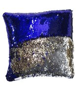 10 Inch Square Shaped Color Changing Sequin Pillow (Blue) - $6.93