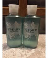 Set of 2 Bath & Body Works SWEATER WEATHER Shower Gel Aloe Vit E Apples ... - $23.66