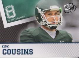 Kirk Cousins 2012 Press Pass Blue Letter Parallel Card #8 - $1.25