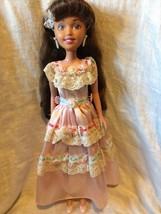 "Ana La Quinceanera Doll Tyco 1994 Hispanic Long Hair w Dress 15"" - $19.99"