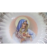 Virgin Mary Mother Sacred Heart Madonna Vintage Plate from Sanders Mfg. - £9.17 GBP