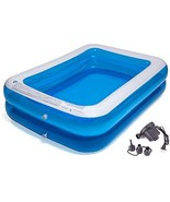 CHICLIST Inflatable Swimming Pool (79x59x20in for 1-3 Kids) Kiddie Pools... - $98.00