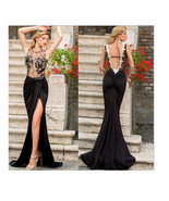 Long Dress Prom Gown  Evening Formal Party Sexy Lace Chiffon Backless - $18.79