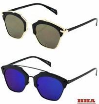 So Real Mirrored Lenses Women Sunglasses Christian Designer Cat Eye Vintage - $7.87+