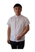 Kitchen Cooker Short Sleeve Coat Chef Working Uniform Jacket White Color - $14.98