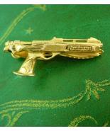 Remington gun tie clip pistol NRA gold tie clasp revolver bachelor gift ... - $85.00
