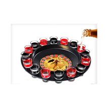 Adult Drinking Casino 16 Glasses Party Club Game Spin N Shot Wheel Roule... - €34,01 EUR