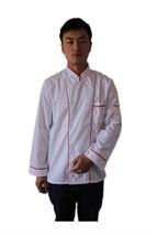 Kitchen Cooker Long Sleeve Coat Chef Working Uniform Jacket White Color - $18.98