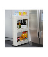 3 Tier Rolling Slide Out Storage Tower Kitchen Bathroom or Laundry Rack ... - €42,29 EUR
