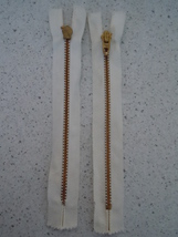"Mid Century Two Talon White 7"" Metal Skirt Zipper New - $3.99"