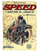 Speed Vintage motorcycle Racing 13 x 10 inch Ad... - $19.95