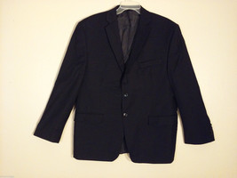 Calvin Klein Men's Size XL 2-Button Blazer Black Wool Sport Coat 3 Front Pockets