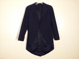 Hickey Freeman Men's Size S Black Tuxedo Vintage 30s Black Tie Long Morning Coat