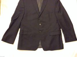 Calvin Klein Men's Size XL 2-Button Blazer Black Wool Sport Coat 3 Front Pockets image 4