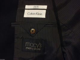 Calvin Klein Men's Size XL 2-Button Blazer Black Wool Sport Coat 3 Front Pockets image 5