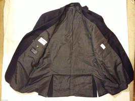 Calvin Klein Men's Size XL 2-Button Blazer Black Wool Sport Coat 3 Front Pockets image 6