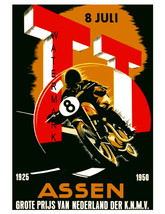 Assen Vintage 1926-50 Motorcycle Racing 13 x 10... - $19.95