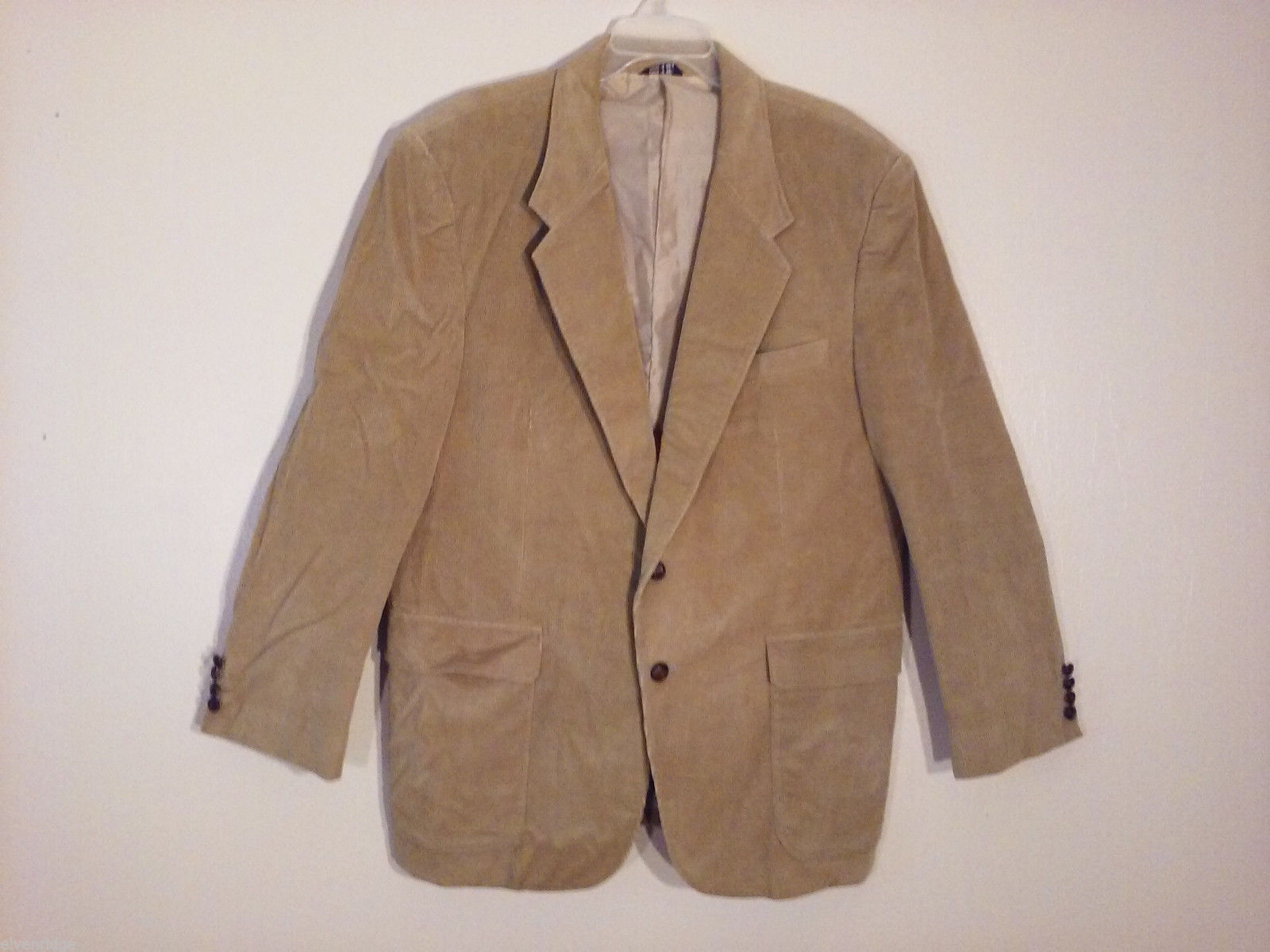 The Men's Store Size 46R XL Corduroy Sport Coat Tan Brown Blazer-Style 2 Button