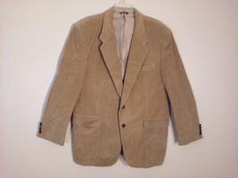 The Men's Store Size 46R XL Corduroy Sport Coat Tan Brown Blazer-Style 2 Button