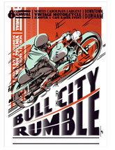 Bull City Rumble Vintage 13 x10 in Motorcycle Racing Advert Giclee CANVA... - $19.95