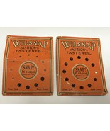 2 Vintage WILSNAP Rust Proof Snap Fasteners Cards • Size 3-0 Sewing Notions - $9.85