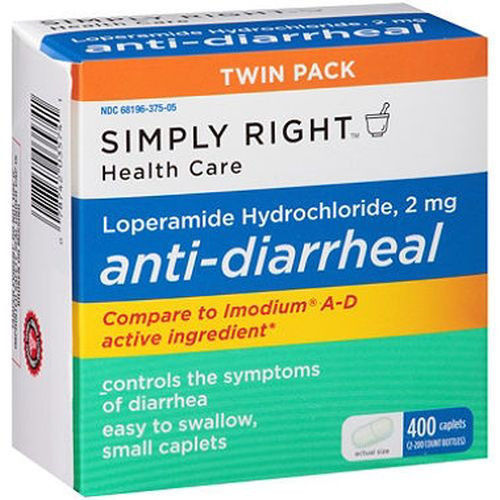 Anti-Diarrheal 400 Caplets Member's Mark Loperamide Hydrochloride 2 mg
