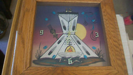 NAVAJO SAND ART CLOCK, TEEPEE by IGNACIO WITH T... - $148.49