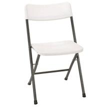 Folding Chair Set Four Pieces White Plastic Comfort Portable Outdoor Sea... - $55.86