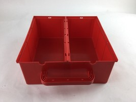 Vintage 1980s Lego Red Container Storage - No Lid Or Divider - $14.01