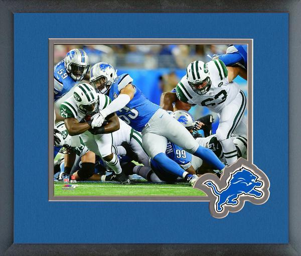 Kyle Van Noy 2015 Detroit Lions - 11 x 14 Team Logo Matted/Framed Photo, used for sale  USA