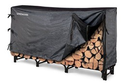Firewood Rack Log Holder w/Fitted Cover Wood Dr... - $108.88