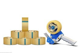 6 Rls Package Shipping Box Packing Tape W/Dispe... - $21.58