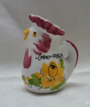 Vintage Miniature Italian Rooster/Chicken Pitcher // Hand Painted Italy ... - $5.25