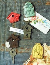 Adorable  Hand Painted Pewter Birdhouse Magnets... - $19.80