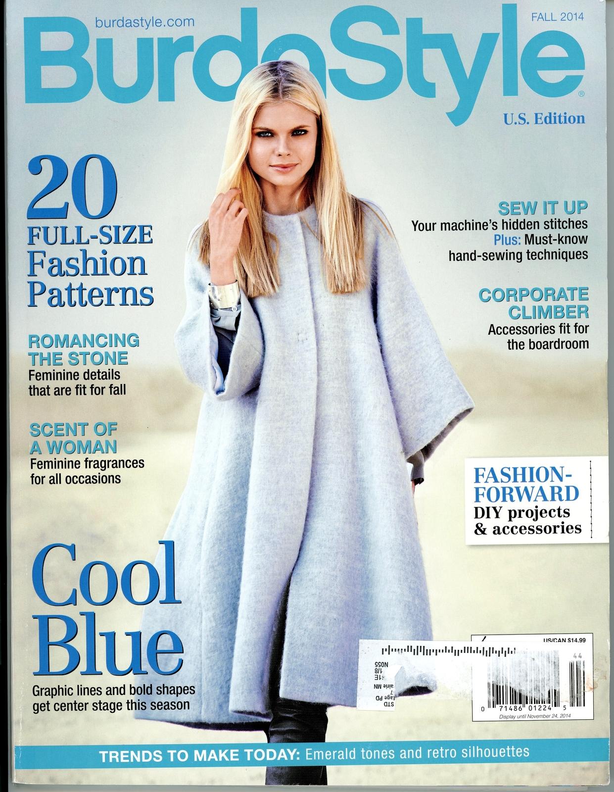 Burda Style Magazine Fall 2014 Us Edition Sewing Fashion Clothing Patterns Magazine Back Issues