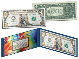 GOLD DIAMOND CRACKLE HOLOGRAM Legal Tender US $1 Bill Currency *Limited ... - $9.95