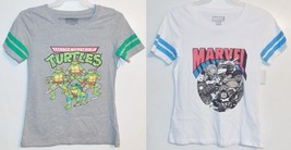 Nickelodeon Marvel Womens Junior Size T-Shirts Various Sizes NWT - $13.29
