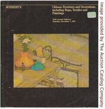 Sothebys NY Nov. 1981 Chinese Furniture, Decorations, Rugs, Textiles, Pa... - $14.35