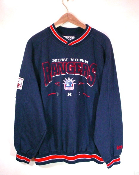 New York Rangers Sweatshirt NHL NYR Fleece Lined Pullover Men XL