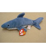 Ty Original Crunch The Shark Beanie Baby HandTag 1996TushTag19936PVC Err... - $210.37