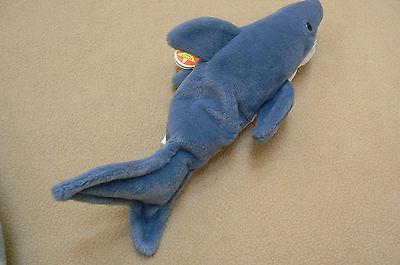 Ty Original Crunch The Shark Beanie Baby HandTag 1996TushTag19936PVC Errors Ret