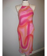 New Look Long Halter Dress Sherbert Colors Size 10 - $16.00