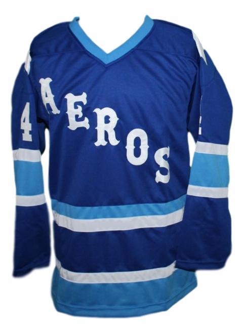 Mark Howe Retro Wha Hockey Jersey New Blue Any Size