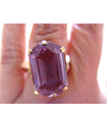 PINK PURPLE COLOR 34.26 CARATS LOVELY COCKTAIL HEXAGON 13X20MM AMETHYST ... - $34.00