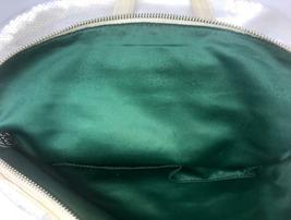Coach Poppy ~ Pearl Opal Sequins Large Highlight Bag Tote ~ Patent Leather Trim image 4