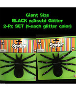 2pc-Realistic Flocked-GIANT TARANTULA SPIDERS-Black Widow Gothic Prop Pr... - $6.90