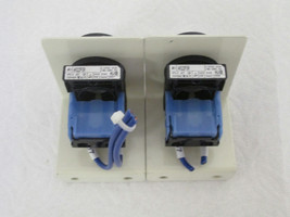 (2) Fuji Electric AR22FOR Flush Round Head Pushbutton Command Switch (Bl... - $10.89