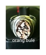 Precious Agate Stone Ring Fine Jewelry Men Acce... - $300.00