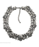 Zara Black Statement Necklace Rhinestone Choker... - $22.49