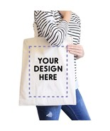 Custom Personalized Natural Canvas Bags - $15.99